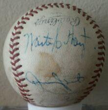 Waite Hoyt & Old Timers signed baseball