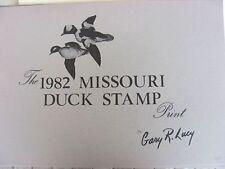 MO4  1982  Missouri State Duck Stamp Print  w/ stamp & folio      MO4XV10 DSS