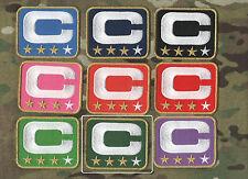 NFL TEAM LEADER JERSEY CAPTAINS PATCH THREE-STAR DARK GREEN CAPTAINS C-PATCH