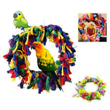 EG_ LX_ New Cotton Rope Hanging Ring Parrot Pet Bird Chew Biting Toy Cage _GG