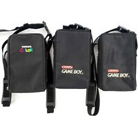 Nintendo Game Boy & Game Boy Color Travel Carrying Cases w/ Inserts Lot Of 3