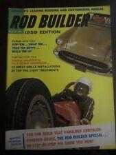 Rod Builder Magazine 1959 Edition Swap Tear Build Up Grille Tail Light (AF)