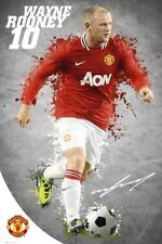 WAYNE ROONEY UNSIGNED ACTION MANCHESTER UNITED POSTER UNFRAMED - BRAND NEW 238