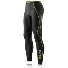 Skins Mens A200 Compression Running Tights Bottoms Pants Trousers Black Sports
