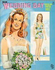 Vintge 1960S Wedding Day Paper Dolls ~Saalfield~ Laser Reproduction~Org Sz Uncut