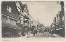 Wiltshire postcard - The High Street, Salisbury - FGO Stuart No. 294