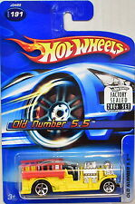 HOT WHEELS 2006 OLD NUMBER 5-5 #191 YELLOW FACTORY SEALED