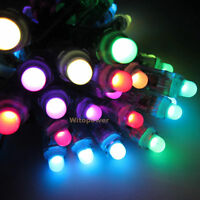 50pcs 5V Addressable WS2811 LED Pixel Light Digital Diffused RGB 12mm  IP68