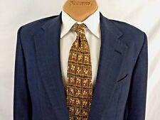 "DUNHILL Tie Mens Business Formal Necktie Floral Green Brown Gold Silk Paris 61"""
