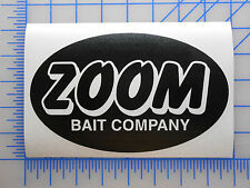 "ZOOM Bait Logo Decal Sticker 5.5"" 7.5"" 9.5"" Plastics Bass Worm Jig Lizard Grub"