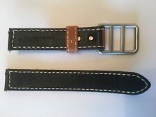FOSSIL DEFENDER 20MM NYLON AND LEATHER WATCH STRAP DES1044 DARK GREEN