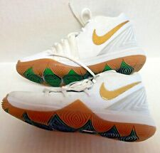 New Boys Nike Air Jordan Kyrie 5 Ps 'Irish' White / Metallic Gold Size 1 Y