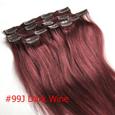 7pcs Set Clip Full Set 100% Human Hair In Extensions Remy Hair AAA Qualit 15''
