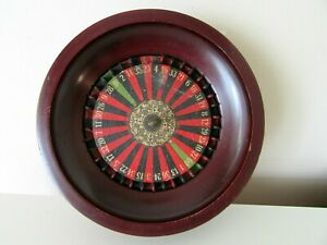 ANTIQUE VICTORIAN ROULETTE CASINO GAME WOOD HAND MADE STAMPED MARKED
