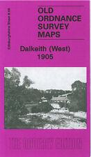 OLD ORDNANCE SURVEY MAP DALKEITH WEST ELGINHAUGH MELVILLE CASTLE IRONMILL 1905