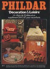Catalogue Revue Magazine Phildar Décoration & Loisirs No 2 + Supplément Enfants