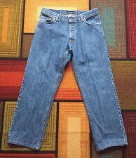 Vintage Burberry London Straight Fit Jeans Dark Blue Wash Nova Check sz 34 Mens