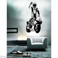 MAX BIAGGI  WALL ART 02 motorcycle racer decal graphic adhesive UNIQUE