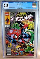 Spider-man #4 NEWSSTAND Marvel 1990 Lizard CGC 9.8 NM/MT White Pages Comic M0134