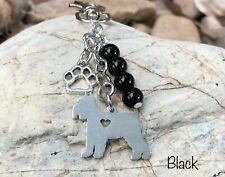 Schnauzer dog keychain, dog key chain, bag charm, key ring, dog gift