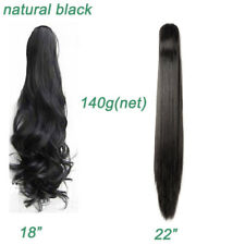 Long Ponytail Clip In Hair Extension Claw Pony Tail Fake Hairpiece for human HG9