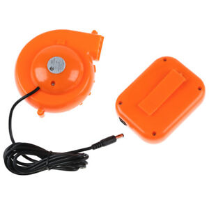 Inflatable Mascots Blower Mini Battery Powered Orange Fan For Costume Head New