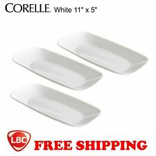 Corelle 3pcs white serving platter serve plate 10.5""