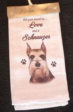 Schnauzer Cropped Dog Breed Cotton Kitchen Dish Towel