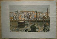 1884 Reclus print KAABA, MECCA, SAUDI ARABIA (#84)
