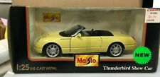 Maisto 2002 Ford Thunderbird Show Car Convertible 1:25 Scale Diecast Yellow 3938