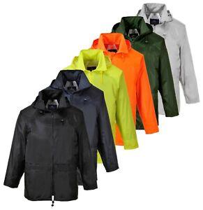 PORTWEST Classic Rain Jacket Waterproof Hood Water Resistant Safety S440