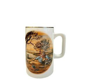 Webb The Waltzing Matilda Collection Porcelain Musical Tankard Mug Wind Up 1983