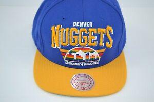 Denver Nuggets Arch Logo Mitchell & Ness Hardwood Classics Snapback Hat NBA Cap