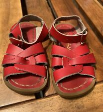 Salt Water by Hoy Sandals - Red Leather - Toddler Size 6 Shoes Summer