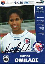 Autogramm Navina Omilade Frauen Fußball WM Olympia Bronze 1.FFC Turbine Potsdam