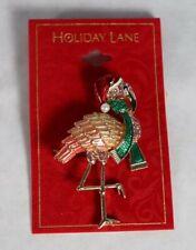Holiday Lane Gold Tone Pink Flamingo Holiday Pin / Brooch $24.50 New