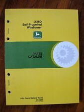 John Deere 2360 Windrower Parts Catalog Manual