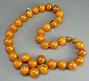 Fine Antique Faturan Amber Bakelite Necklace Beads