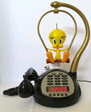 Tweety Bird Animated Talking Alarm Clock Am Fm Radio Telephone Digital