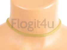LALIQUE SILICONE VERDE GIROCOLLO COLLANA 6mm x 28-40cm GOLD CHAIN