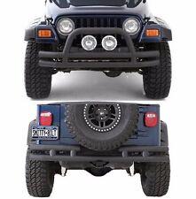 Smittybilt Front & Rear Textured Tubular Bumper Set 87-06 Jeep Wrangler YJ TJ LJ