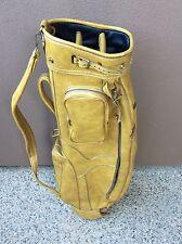 Vintage MACGREGOR Brown Faux Leather executive GOLF BAG vintage-retro   USA