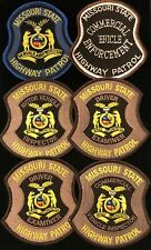 Missouri MO State Police Highway Patrol Patch SPECIAL UNITS - SET OF 6 - Grp1