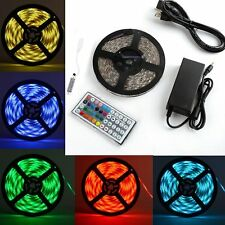 5M 16.4FT SMD 5050 Waterproof RGB Flexible 300 LED Strip Light + 44Key IR Remote