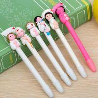 2pcs Soft Cartoon Doctor Nurse Character Ballpoint Pen Polymer Clay Pen