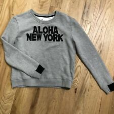 "AIKO ""Aloha New York"" Grey Sweatshirt French Terry Sold Out S $198"