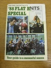 1988 Horse Racing: Racing Monthlys Flat Racing Special '88, Guide To A Succesful