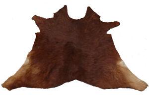 """Cowhide Rugs Calf Hide Cow Skin Rug (27""""x31"""") Brown Beige CH6019"""