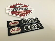 2 x Audi Badge Decals R8 RS3 RS4 RS5 RS6 S1 S3 A1 A4 TT All Audi Cars