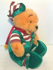 Disney Store Winnie the Pooh Elf Plush Holiday Christmas Stuffed Animal